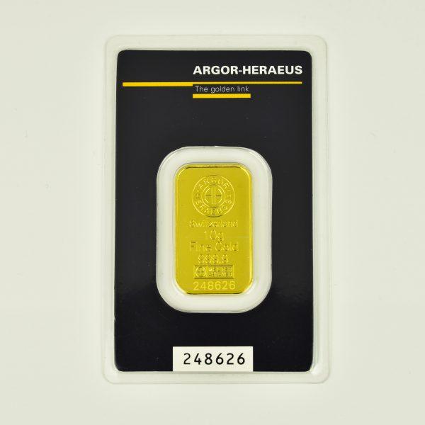 | Lingote Argor - Heraeus de 10 gramos