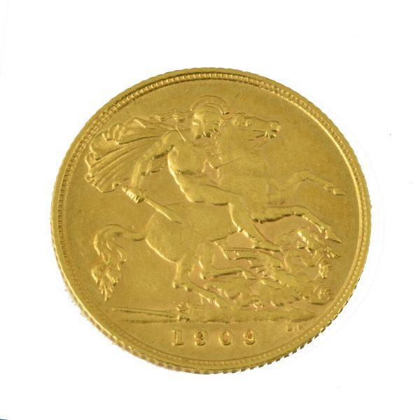 | Moneda Eduardo VII 1909 (1/2 libra)