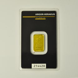 Lingote Argor – Heraeus de 5 gramos