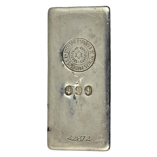 | Lingote de plata de 1 kilo