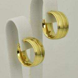 Pendientes Criollas de oro 18K Diámetro 20 mm