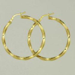 Pendientes Criollas de oro 18K Diámetro 35 mm