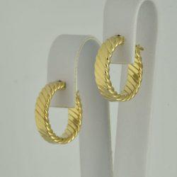 Pendientes Criollas de oro 14K Diámetro 20 mm