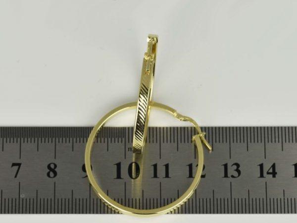   Pendientes Aros de oro 14K Diámetro 33 mm