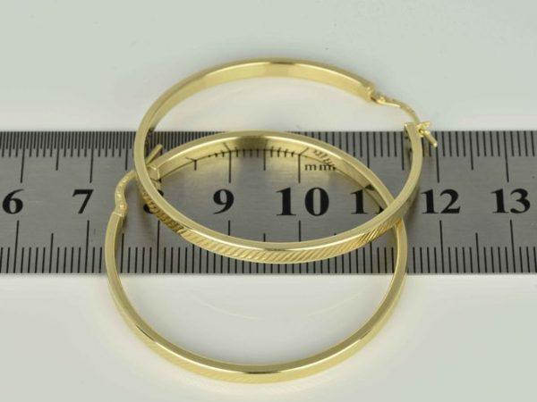 | Pendientes Aros de oro 14K Diámetro 40 mm