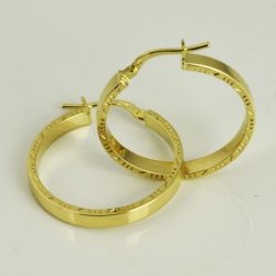 Pendientes Criollas de oro 18K Diámetro 24 mm