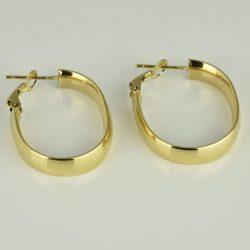 Pendientes Criollas de oro 18K Dimensiones 27 x 23 x 6 mm
