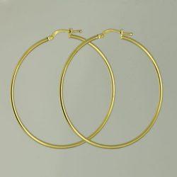 Pendientes Aros de oro 18K Diámetro 43 mm