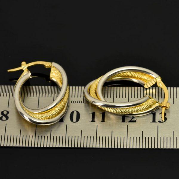 | Pendientes de oro 18K Dimensiones 29 x 19 mm