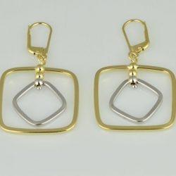 Pendientes de oro 18K Dimensiones: 47 x 25 x 2 mm