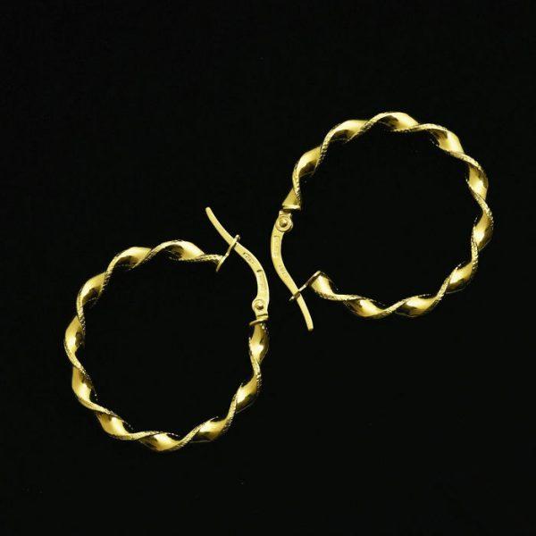 | Pendientes Aros de oro 18K Diámetro 25 mm