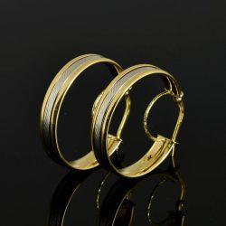 Pendientes Aros de oro 18K Diámetro 24 mm