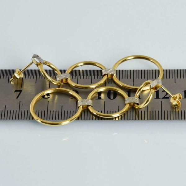 | Pendientes de oro 18K Dimensiones 50 x 19 mm