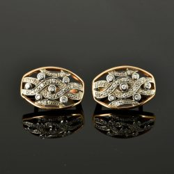 Pendientes de oro 14K con diamantes