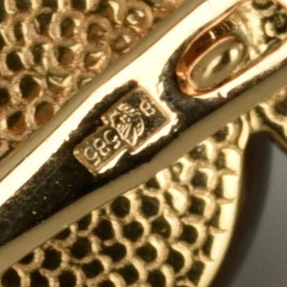 | Pendientes de oro 14K Dimensiones 17 x 17 x 9 mm
