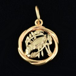"Colgante de oro 14K ""Cancer"""