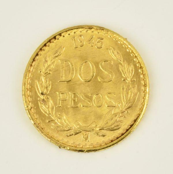 | Moneda Estados Unidos Mexicanos 1945 (2 pesos)