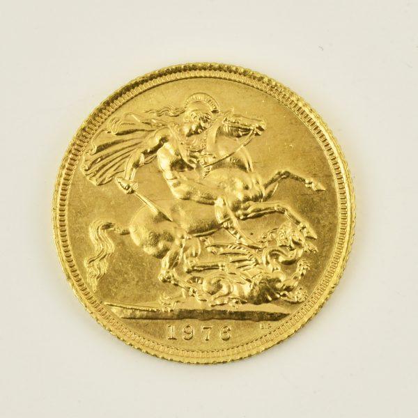 | Moneda Reina Elizabeth II 1976 (1 libra)