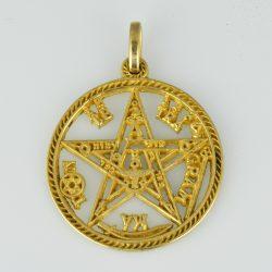 """Colgante de oro 18K """"Tetragrammaton"""""""