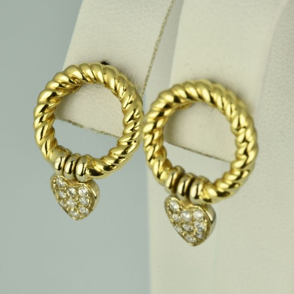 | Pendientes de oro 18K con circonias cúbicas