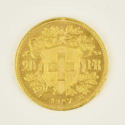 Moneda Helvetia 1927 (20 francos)
