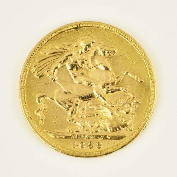 | Moneda Reina Victoria Velada 1898 (1 libra)