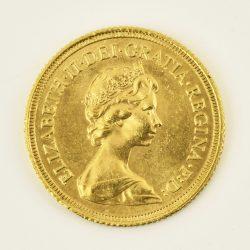 Moneda Reina Elizabeth II 1976 (1 libra)