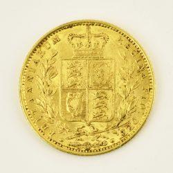 Moneda Reina Victoria Joven 1852 (1 libra)