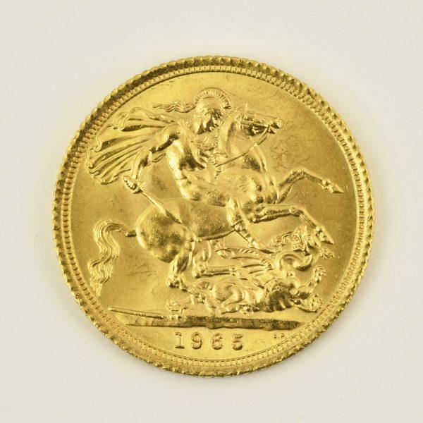 | Moneda Reina Elizabeth II 1965 (1 libra)