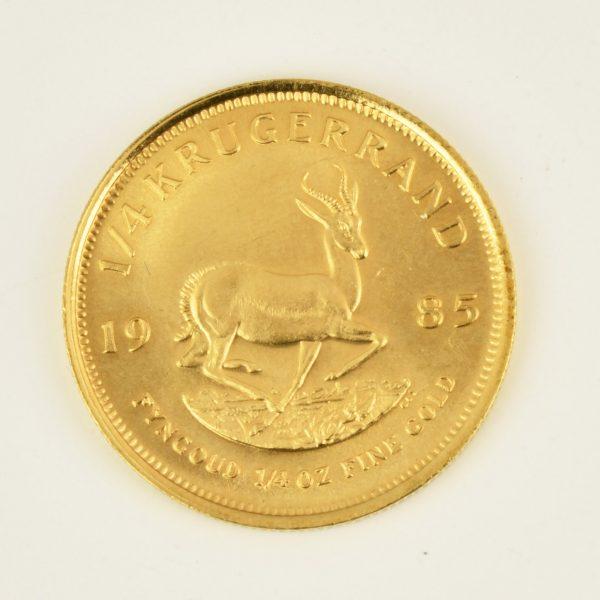| Moneda de Sudáfrica 1985 (1/4 Krugerrand)