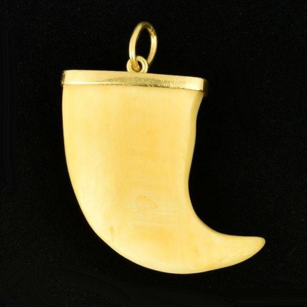 | Colgante de oro 18K Diente de marfil