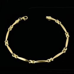 Pulsera de oro 9K Longitud 19 cm
