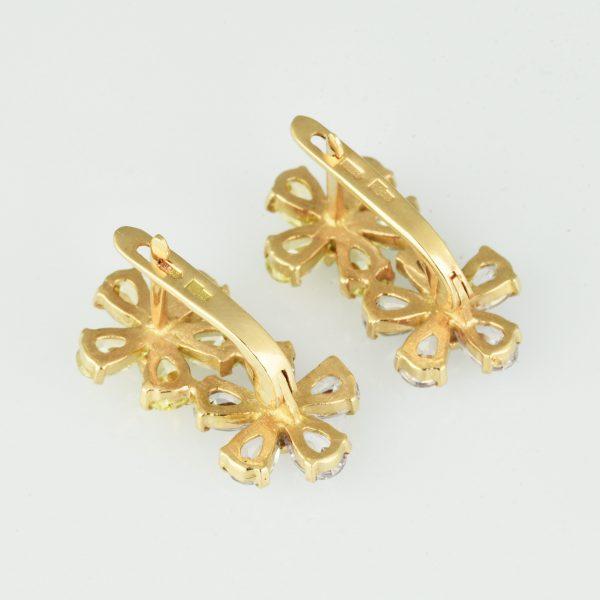| Pendientes de oro 14K con circonias cúbicas