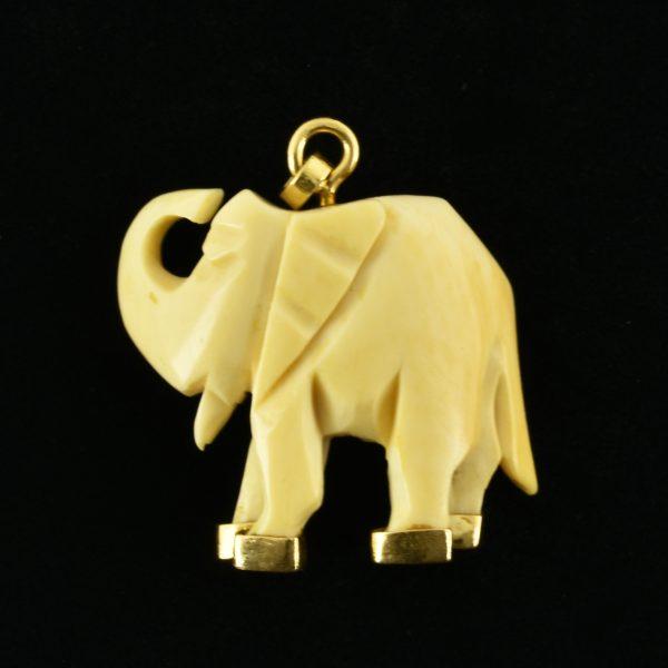 | Colgante de oro 18K Elefante de marfil