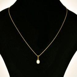 Cadena con colgante de oro 18K con perla