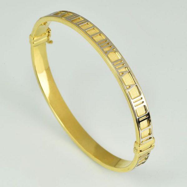 | Pulsera de oro 18K Diámetro: 6 x 5 cm