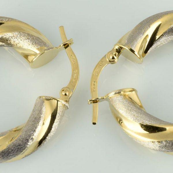 | Pendientes de oro 18K Diámetro 25 mm