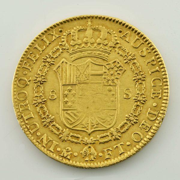 | Moneda de oro de Madrid 1802 (Carol IIII)
