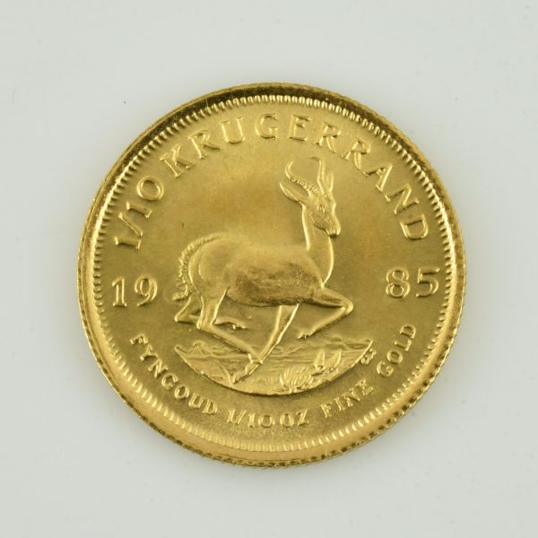 | Moneda de oro Sudáfrica 1985 (1/10 Krugerrand)