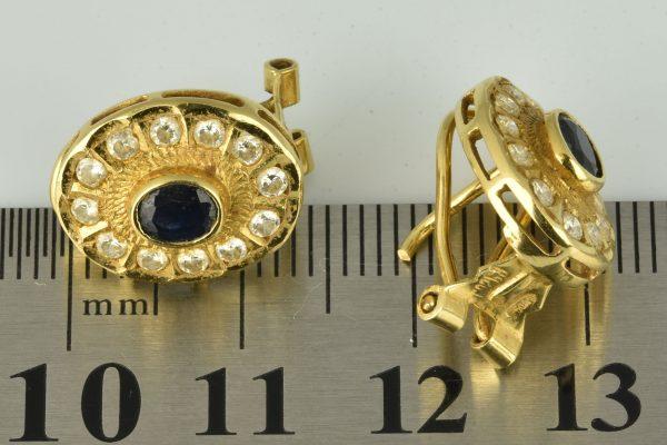 | Pendientes de oro 18K con circonias