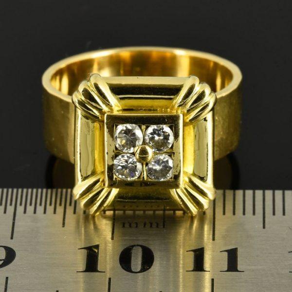 | Anillo de oro 18K. Talla 58 (ø 18.5 mm)