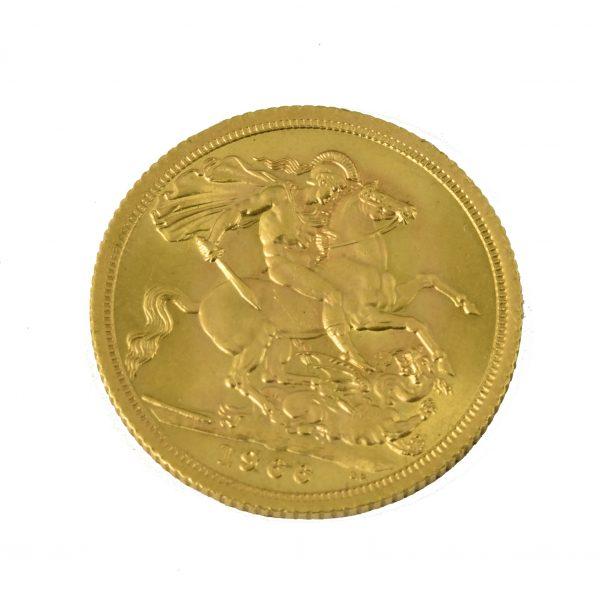 | Moneda Reina Elizabeth II 1966 (1 libra)