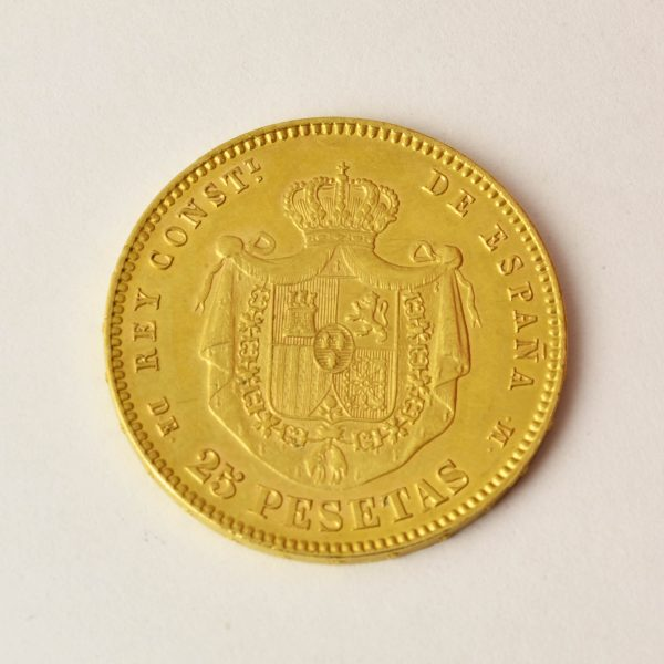 | Moneda Alfonso XII 1877 (25 Pesetas)