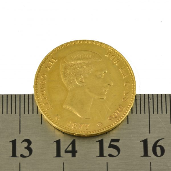   Moneda Alfonso XII 1877 (25 Pesetas)