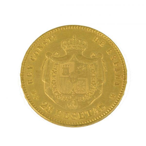 | Moneda Alfonso XII 1878 (25 Pesetas)