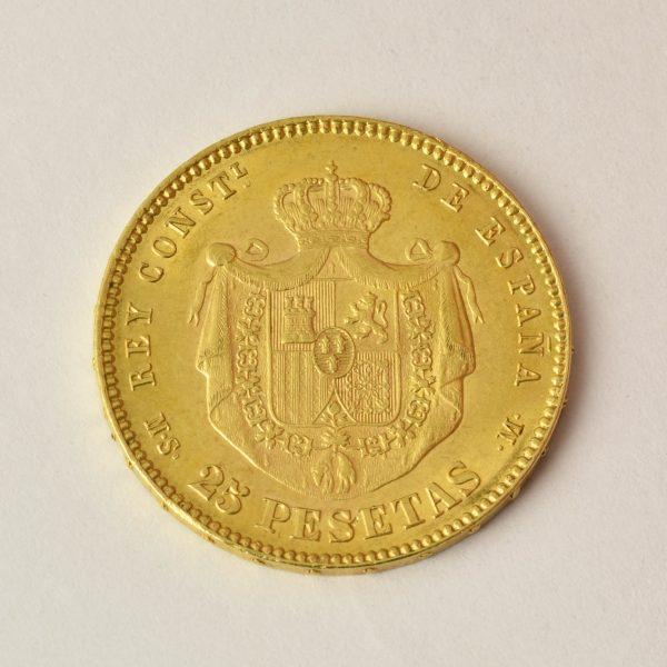 | Moneda Alfonso XII 1881 (25 Pesetas)
