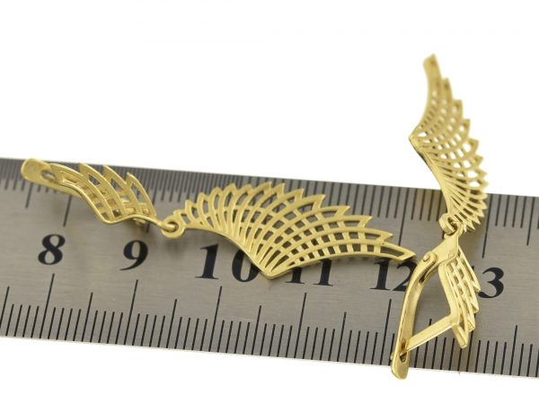| Pendientes de oro 14K 60 x 9 mm